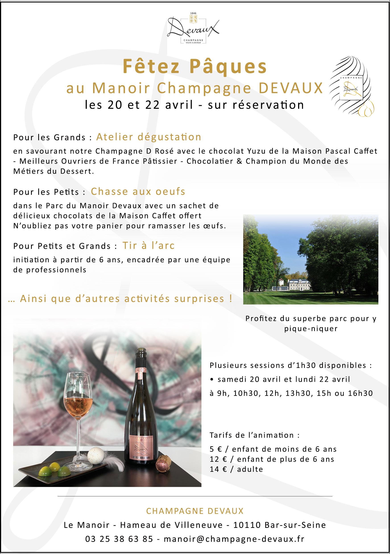 Pâques 2019 - Manoir Champagne Devaux