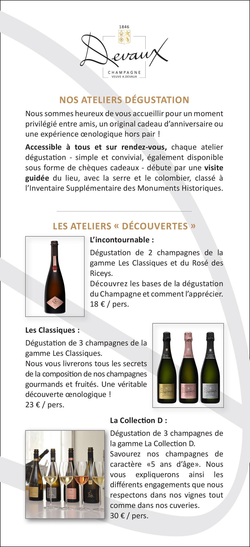 Champagne Devaux Ateliers dégustation 2019